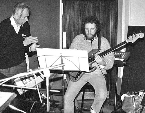 Mo with George Martin at Air Studios